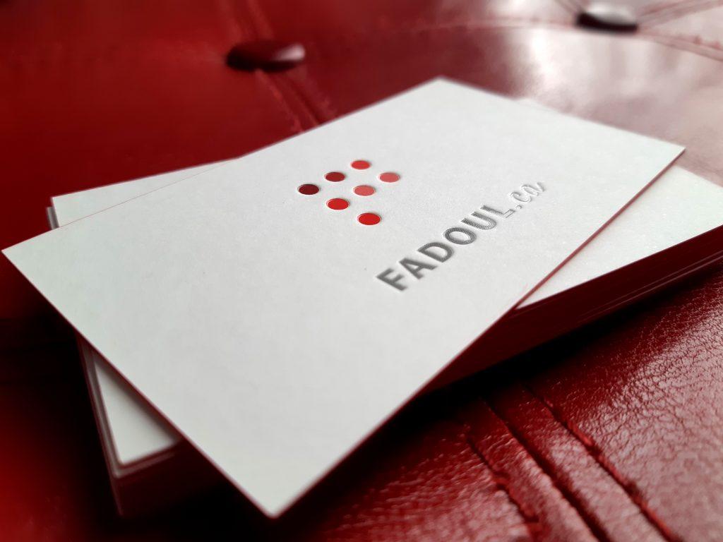 conception de cartes d'affaires prestigieuses et développement d'image de marque