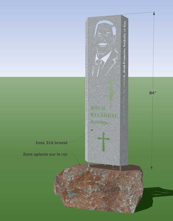 conception monument acier