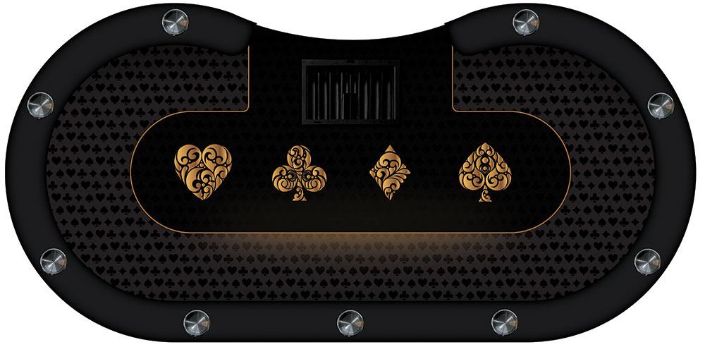 table de poker noir gold