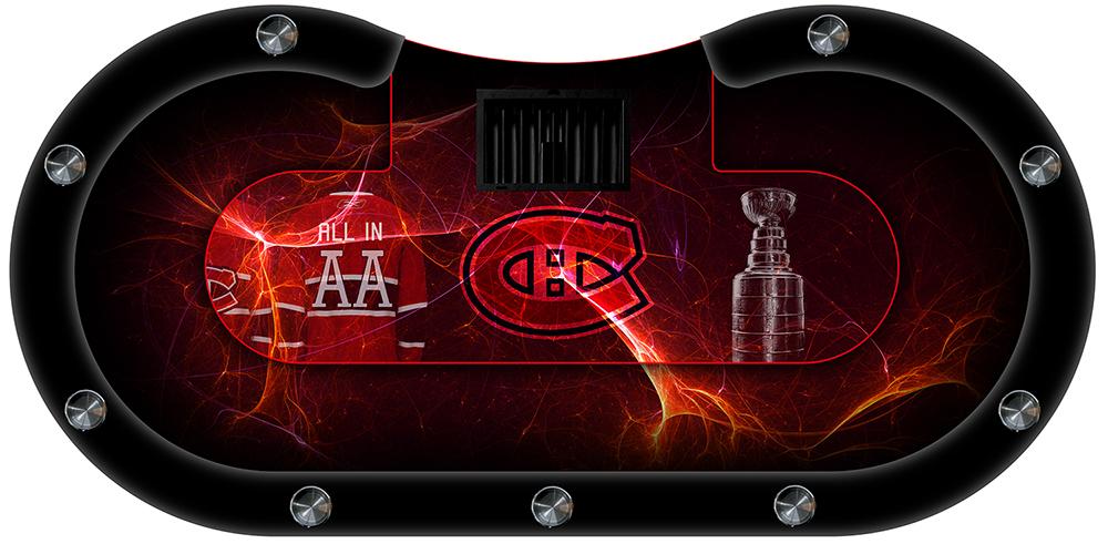 table de poker canadiens rouge
