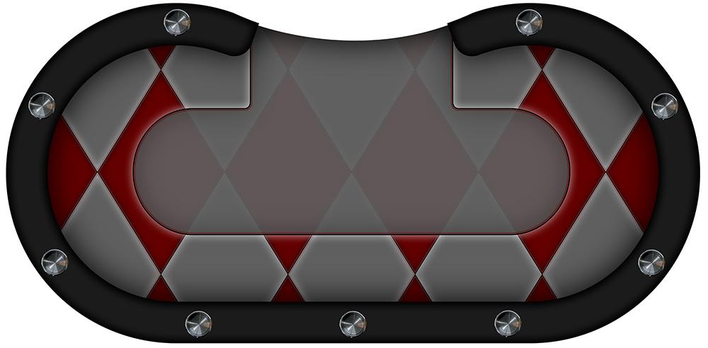 table de poker losanges rouges