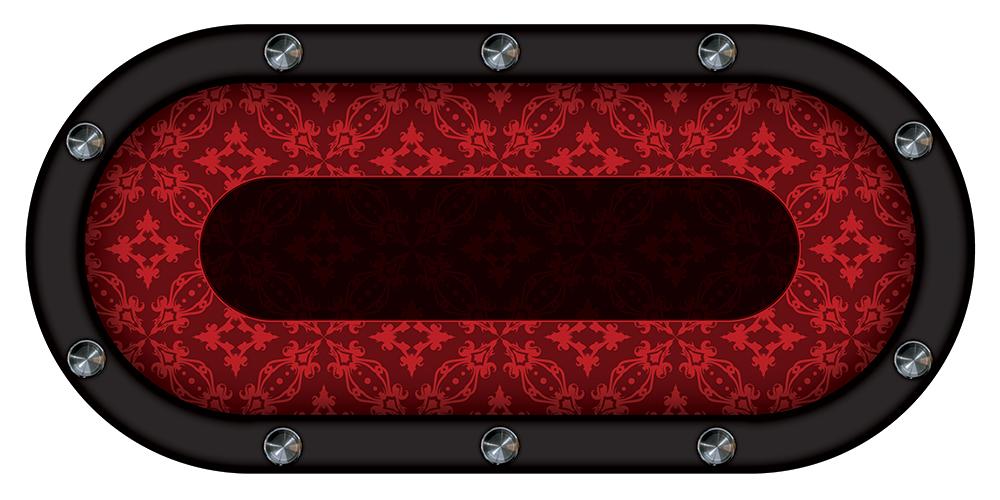 table de poker rouge motifs
