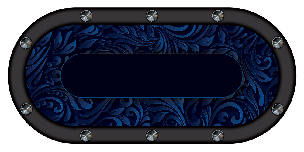 table de poker swirl bleu